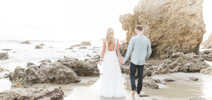 El Matador Beach Engagement : Hannah + Nick